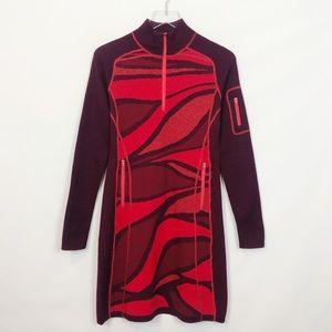 Title Nine Red Merino Wool Dress Small